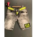 Black Wash Yellow Short